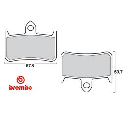 Frein - Plaquette - BREMBO - 07HO2807