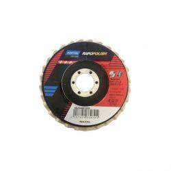 Disqueuse ø 115mm - Disque de polissage - Acier/Inox