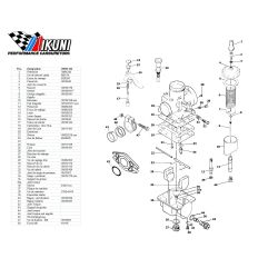 Carburateur - VM18/144 - Liste de pieces