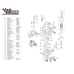 Carburateur - VM20/151 - Liste de pieces