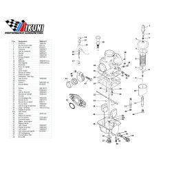 Carburateur - VM20/273 - Liste de pieces