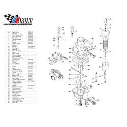 Carburateur - VM20/327 - Liste de pieces