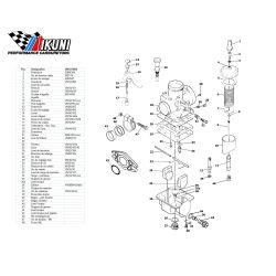 Carburateur - VM12/8069 - Liste de pieces
