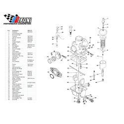 Carburateur - VM13/83 - Liste de pieces