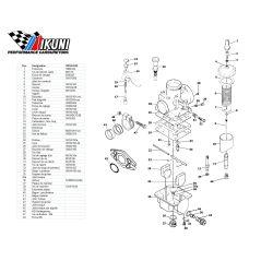 Carburateur - VM14/8340 - Liste de pieces