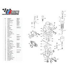 Carburateur - VM16/353 - Liste de pieces