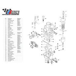 Carburateur - VM26/8637 - Liste de pieces
