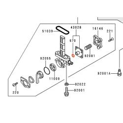 Robinet essence - joint - ø 4mm - 670B1-504