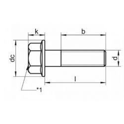Visserie - M8 x12mm - Noircie -  130BB-0812