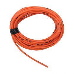 Cable - 0.75mm2 - Fil electrique - Orange/Noir - 4 metres