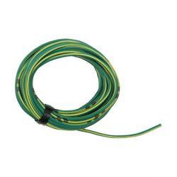 Cable - 0.75mm2 - Fil electrique - Jaune/Vert - 4 metres