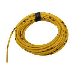Cable - 0.75mm2 - Fil electrique - Jaune/Noir - 4 metres