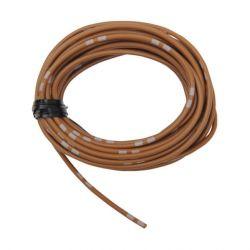 Cable - 0.75mm2 - Fil electrique - Marron/Blanc - 4 metres
