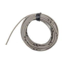 Cable - 0.75mm2 - Fil electrique - Gris/Noir - 4 metres