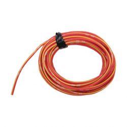 Cable - 0.75mm2 - Fil electrique - Jaune/Rouge - 4 metres