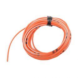 Cable - 0.75mm2 - Fil electrique - Orange/Blanc - 4 metres