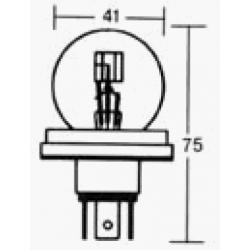 Ampoule - 6v - 45/40w - P45T - code europeen