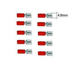 Connecteur - Larg 4.8 - Cable : 0.50 -1.0 mm - (x10)