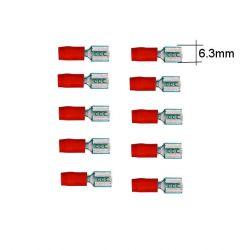 Connecteur - Larg 6.3 - Cable : 0.50 -1.0 mm - (x10)