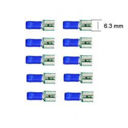 Connecteur - Femelle - Larg 6.3 - Cable : 1.5 -2.5 mm - (x10)