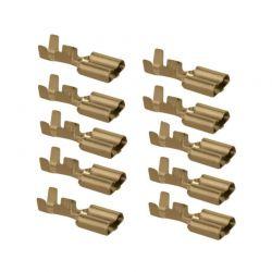 Cosse Femelle a sertir - (x10) - plate 6 mm - (250 Series)