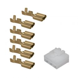 Connecteur - 4 broches Femelles + cosse - (250 Series)