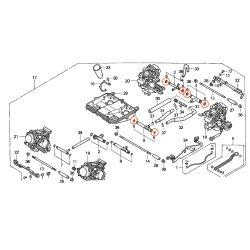Carburateur - joint de liaison (tube) - VT750