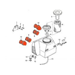 Filtre a air - Manchon de boite - (x4) - KZ650