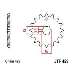Transmission - Pignon - JTF 428 - 13 Dents