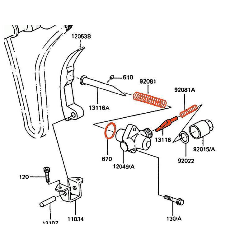 Distribution - Tendeur de chaine - GPZ550 / GT550 / Z550 ...... Z400 -