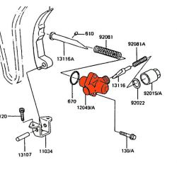 Distribution - Support - Tendeur de chaine - GPZ550 / GT550 / Z550 ...... Z400 - 12049-1009
