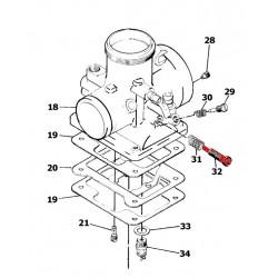 Carburateur - Mikuni - VM 20/532 -  Vis de ralenti