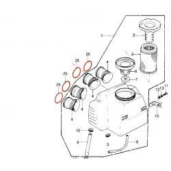 Ressort de Manchon de liaison - Carburateur - filtre a air - Kz650 - KZ750 (4 cyl.) - 92081-1177