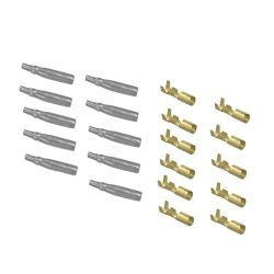 Cosse - Femelle a sertir + protection - (x10) - Ronde 4 mm -