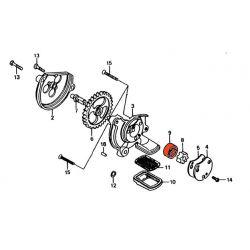 Moteur - Pompe a huile - Rotor Exterieur - CB125T/TD/C - CM125/185/200/250