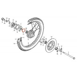 Roue - Avant - Joint torique - 42x2.5 mm