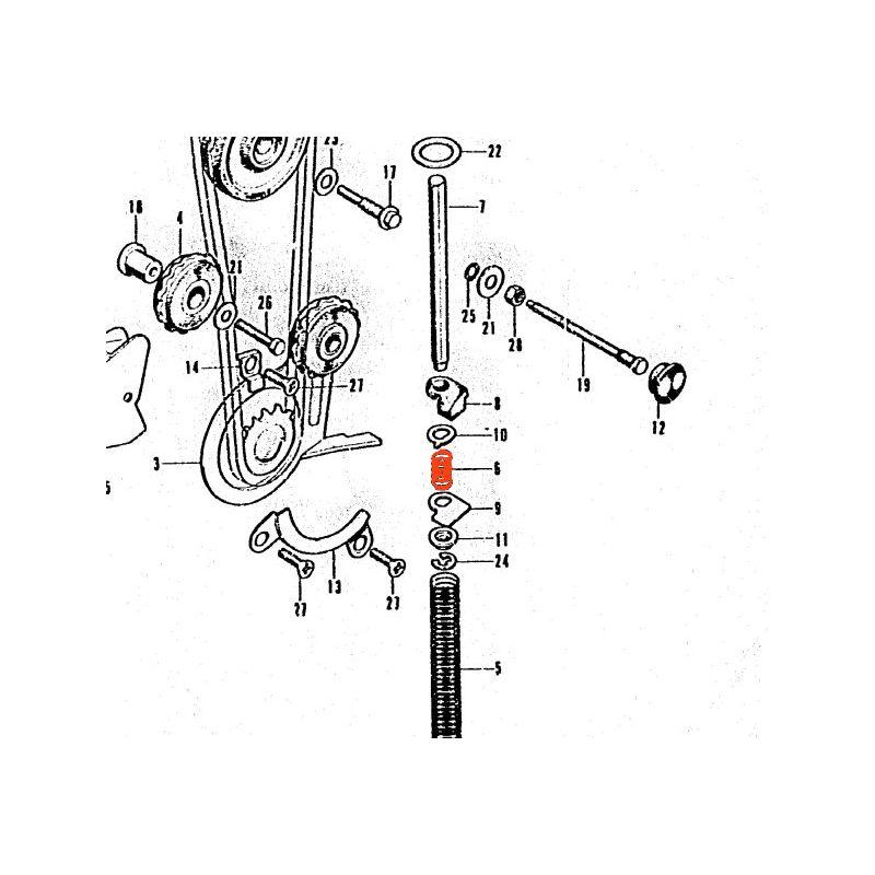 Distribution - Ressort - tendeur de chaine - CB125K