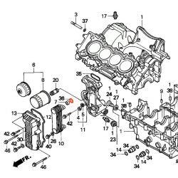 Moteur - Joint torique - ø 19.80 X2.40 - CBR600 - (PC25)