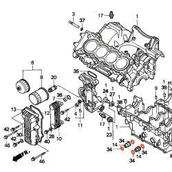 Moteur - Joint torique - ø17.30 x2.40mm - CBR600 - (PC25)