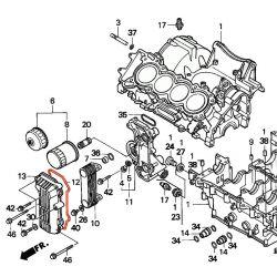 Moteur - Joint de forme - radiateur huile - CBR600 - (PC25)