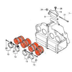 Filtre a air - Ensemble Manchon boite a air (x4) - CB900F-CB1100F-CB1100R