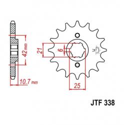 Transmission - Pignon sortie boite - JTF 338 - 530/16 dents - CB650 -