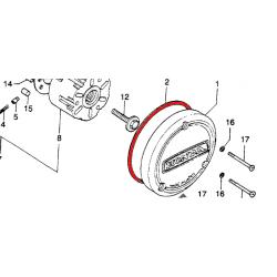 Moteur - joint de carter - Gauche - CB125K5