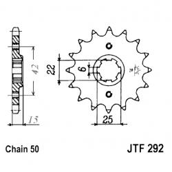 Transmission - Pignon sortie boite - JTF 292 - 530/16 dents