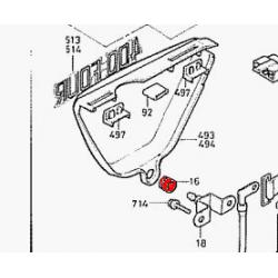 Cache lateral - Joint - caoutchouc de montage