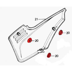 Cache Lateral - Joint caoutchouc de fixation - Silent-bloc - (x1) - CB... CX.. GL..