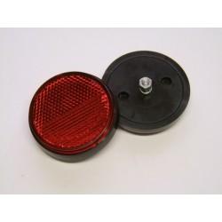 Reflecteur (x1) - Catadioptre Rouge/Noir - ø60 x M5 a visser