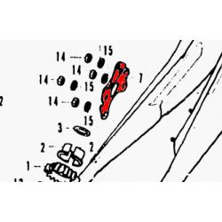 Echappement - support de fixation - Droit - CB350F