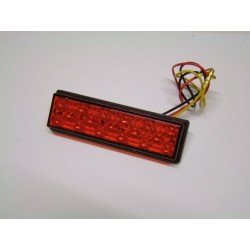 Led - Feux Stop Rouge - 25x95mm - Catadioptre a coller