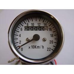 Tableau de bord - Compteur Mécanique Km/h - Roue 19 à -21 Pouce - Blanc